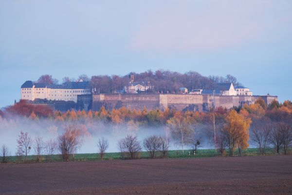 fortress seen from west in autumn