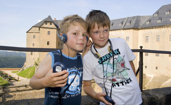 Audio guide for children - available in 3 languages