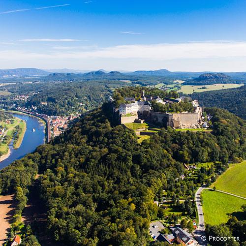 Festung Koenigstein von Westen